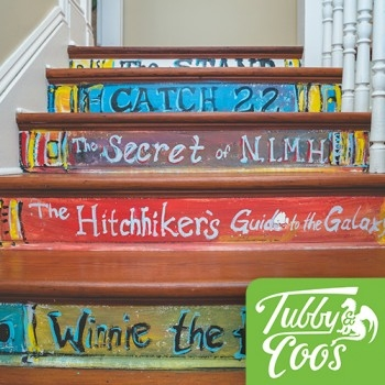 Tubby & Coo's Stairwell Book Stairs