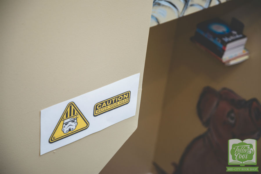 Tubby & Coo's Star Wars Sign Stairwell Caution Watch Head