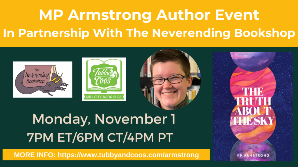 MP Armstrong Author Event In Partnership With The Neverending Bookshop