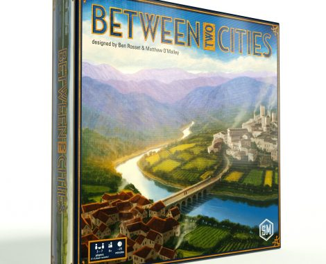 Between Two Cities is a partnership-driven, 20-minute, competitive tile-drafting game for 1-7 players.  Price: $35